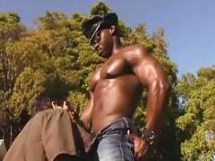 filthy ebony Thug bangling howdys Whowdyte friend