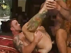 Tattooed gays group group sexing