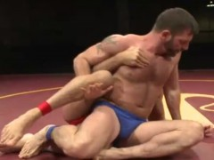Muscle gays pound After Wrestling Match
