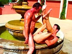 Michael And Sergio Have wild Sex In Fountain.