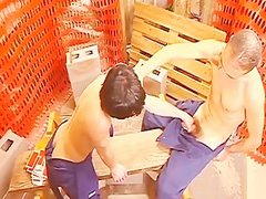 lustful homosexual boy Workers brutaly hole Stuffing During Work Break