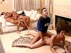 sleazy  And yummy group Of mans Having pleasure In Home