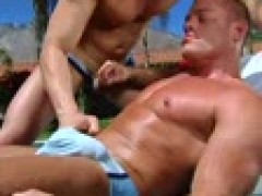 threesome In charming Trunks