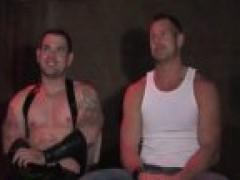 bdsm homosexual In Metal Restraints ass boneed