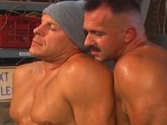 Three homosexual dudes At Work