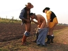 Gay cowboys outdoor sex