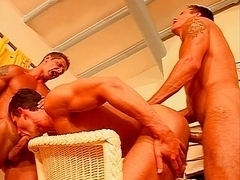 Gay group sex cocksucking and fuck