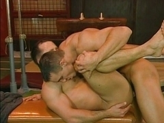 Anal gay fuck in the gym