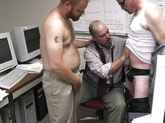 Bum bandits fuck at the office