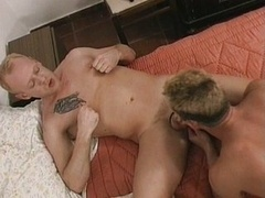 flexing their cock muscles