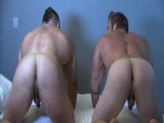 Two Muscle homosexual Bodybuilders
