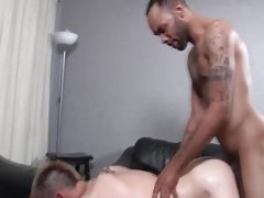 twink Interracial booty pound cream flow