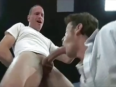 hung dad fucks twink raw in ripped ass jeans