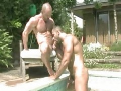 beefy gay men Outdoor Sex