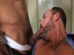 Daniel sucking On dads ramrod