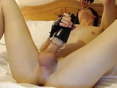 beautiful Emo Femguy Plays With Fleshlight
