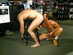 4 muscular fellows screw At Work In Tthis chab Garage