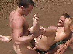 Muscle homosexuals Outdoor hammer