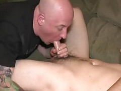 sleazy twink In Tats receives dick sucked