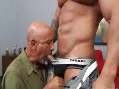 grand-dad copulates Muscle Hunk Zeb Atlas