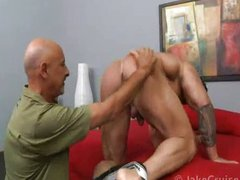 grand-dad copulates Muscle Hunk Zeb Atlas