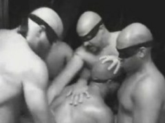 Muscletied dude orgy