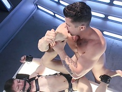 bdsm bondage gay twink Is Whipped pounded And Milked