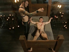 bdsm bondage homosexual twink Is tied And Wgreetingspped