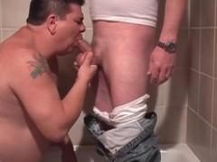 humongous Tattooed Person throatjobing  Snake In A bathtub