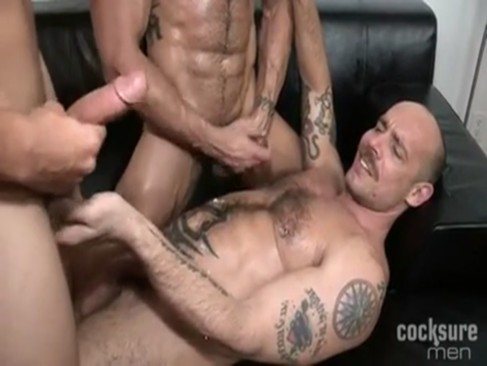 Austin Merrick gets fuck By Two muscular men