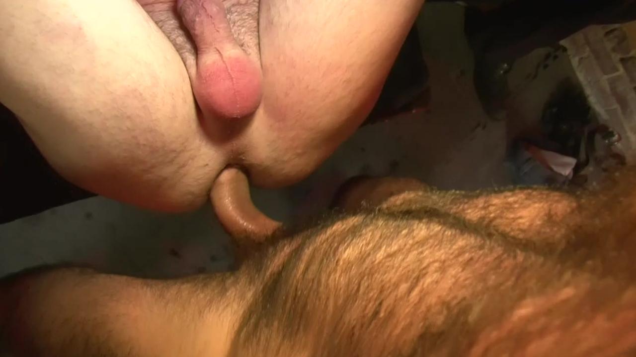 2 men Using bound Sex serf - Factory movie scene