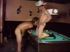 Gays playing billiard their way