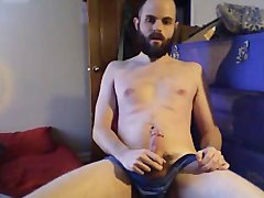 2nd Jerk Vid - Scruffy Beardy guy jerk off Time