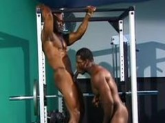 crazy homosexual body builder drilling