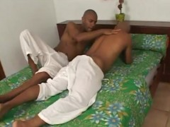 lustful bald latinos give each other blowjo ...