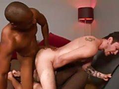 White boy drilled by a big hard black cock