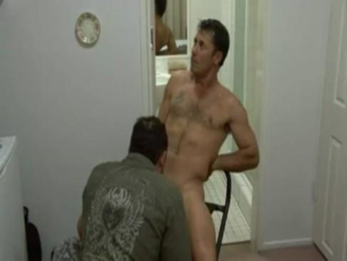 Australian man Making his Casting movie scene.