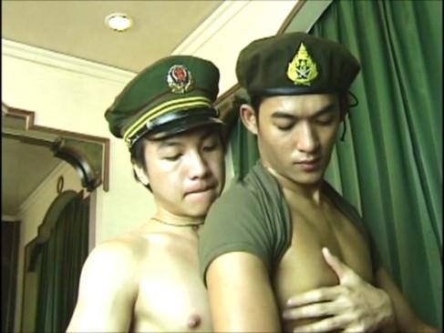 Chinese Soldiers boneing bareback