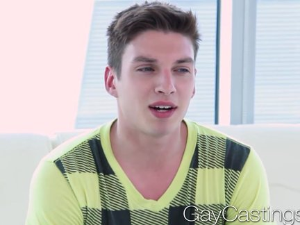 gayCastings wild boy Wants cash To suck