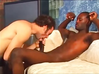 Interracial poke On The Pool Table