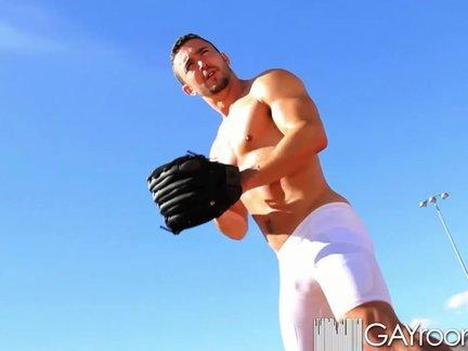 gayroom lustful Baseball Players Play With Hard
