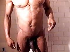 Two black gays Have wonderful Masturbation On bed After Shower