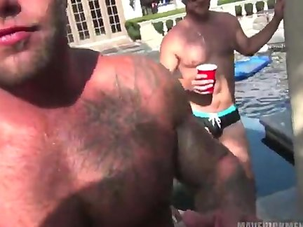 Tthis chab MM - Pool Party group fuck