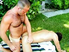 stunning Lad gets howdys ass Stretched Wide Open By A beefy plower