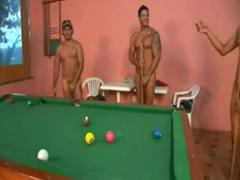 Foursome Sex On Pool Table