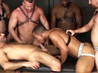Interracial gang sex