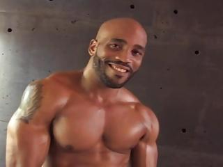 beautiful dark Muscle twink
