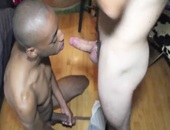 ebony HUNK gets hiS ass STRETCthis chabD WIDE unprotected
