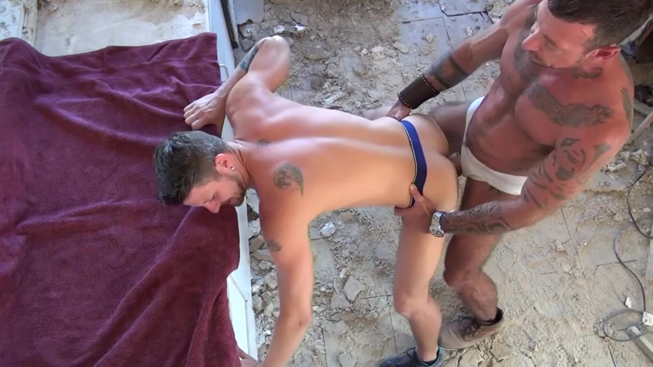 brawny homosexuals booty fucking - Factory video