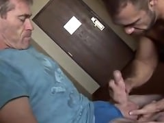 older man receiveting sucked By mature
